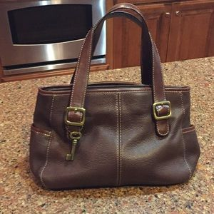 FOSSIL BRAND LEATHER BAG